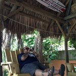 Kicking back with a cigar and a nice cold beer