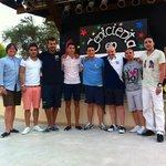 Con Victor y Carlos, los chicos de animacion. Sois increibles...... Volveremos a vernos!!!!