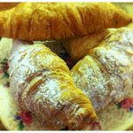 Baked daily - almond and butter croissants.