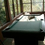 South porch with pool table (free games)