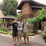 Saying farewell to some good friends at Aoi's Garden Home