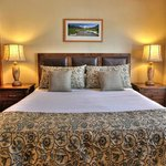 Our 1BR condominium units have been recently upgraded with new mattresses, bedding, flat screen