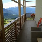 Il balcone della stanza Pitzna