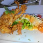 Tempura Soft Shell Crab, Fennel and Edamame