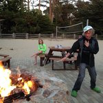 Asilomar Fire Pit surf and sand
