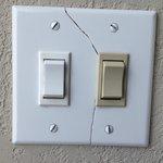 Broken Light Switch Plate