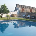 A wonderful pool, a Roman temple, city walls and a panoramic view. What more do you want?