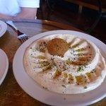 Humus and pita appetizer