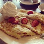 Strawberry Crepes were very delicious!