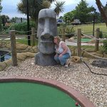 Easter Island Head at Jungle Journey Adventure Golf