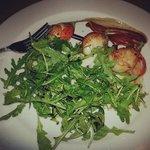 King Scallops and Rocket and Parmesan Salad