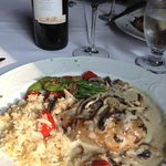 Delicious mushroom and wine sauce chicken