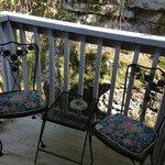 cozy outdoor balcony