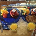 delicious gourmet breakfast prepared by Sandra an epicurean cook
