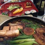 Sukiyaki for 2.  Like Steak-Ums in salt broth.  Yuck!