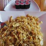 Sushi and hibachi chicken!