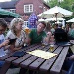 At the Bridge Barn Inn with family