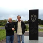 With Edward at 2nd Division Memorial at Omaha Beach