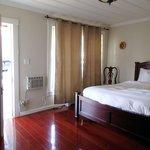 Bedroom, door scraping floor