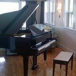 Piano in lobby