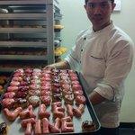 valentine donut from Sam donut