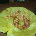 This was my daughters chicken strips they were great. I had the green chili burger and it was ex