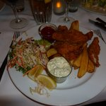 Fish and Chips - Less expensive, can be ordered from main dinning room