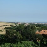 View of Senigallia from grounds of Locanda