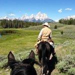 Riding near the Tetons