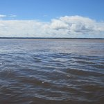Entering the mighty Amazon River