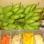 Fresh Bananas from Hotel Grounds