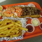 Large Surf and Turf Roll with fries