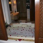 Our amazing bathroom and surprise rose tub