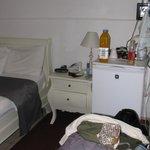 room with fridge