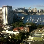 Sydney Harbour Bridge view from the hotel.