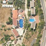 The hotel from the air, flying over on my paraglider