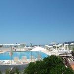 piscine vue du restaurant
