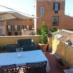 The wonderfull roof terrace