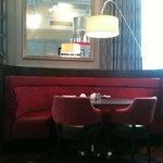 The restaurant interior is nice.