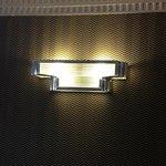 Art deco light in the reception area