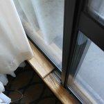 Door to Balcony, The wood prevent teh door from opening