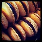 Traditional French Macarons... Every time we go in there are new flavours to try! Chocolate and