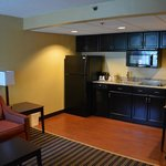 With two flat-screens and two rooms, we enjoyed our stay,