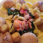 Pappardelle with Pan Seared Scallops