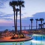 Night view GP pool and gulf of Mexico.