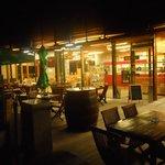 Bar ristorante alla sera
