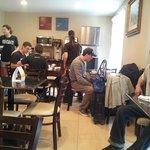 Employees should work, not hang around the breakfast room