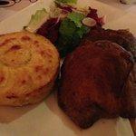 Leg of duck confit and potato gratin