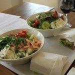 Fresh salads and sandwiches