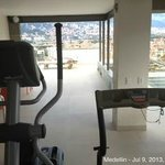 view from the gym equipments